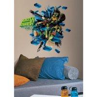 Roommates Wall Decor Teenage Mutant Ninja Turtles Brick Poster Giant Wall Decal