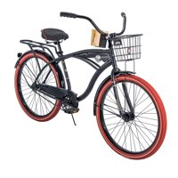 """Huffy 26"""" Nel Lusso Cruiser with Perfect Fit Frame Men's Bike, Black"""