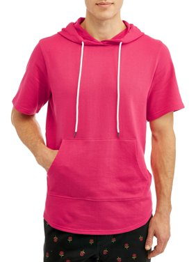 George Men's Elongated Short Sleeve Hoodie, Up to size 2XL