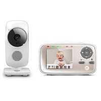 """Motorola MBP667CONNECT Video Baby Monitor with Wi-Fi Viewing, 2.8"""" Color Screen, Two-Way Audio, and Room Temperature Display"""