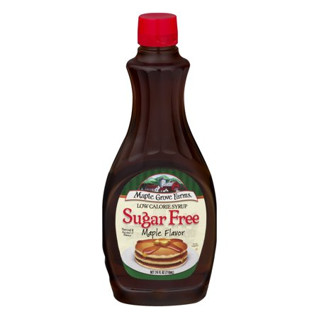 (3 Pack) Maple Grove Farms Syrup Maple Sugar Free, 24.0 FL OZ