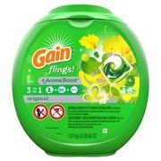Gain flings! Liquid Laundry Detergent Pacs, Original, 81 count