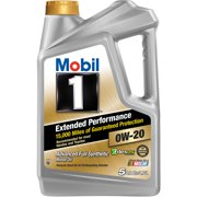 (3 Pack) Mobil 1 Extended Performance 0W-20 Full Synthetic Motor Oil, 5 qt