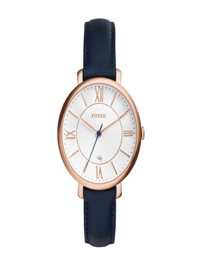 Fossil Women's Jacqueline Three-Hand Leather Band Watch ES3843