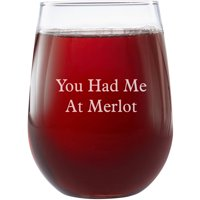 Personalized Create Your Own Stemless Wine Glass, Choose Block or Script
