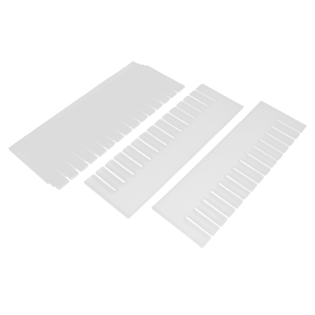 Unique Bargains Plastic DIY Grid Drawer Divider Household Necessities Storage Off White 6