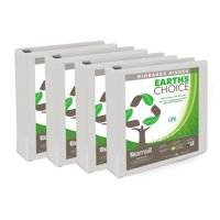 "Samsill Earth's Choice Biobased 1.5"" Round Ring View Binders, White, 4 Pack"