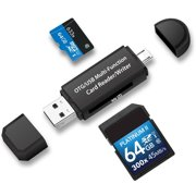 TSV Micro USB OTG to USB 2.0 Adapter SD/Micro SD Card Reader with standard