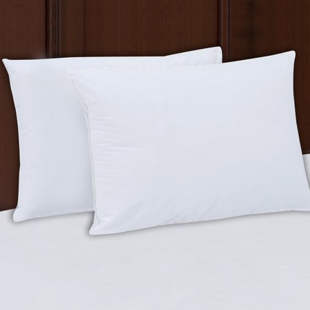 - Mainstays 200TC Cotton Medium Support Pillow Set of 2, Multiple Sizes