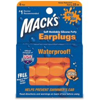 Mack's Kids Size Soft Moldable Silicone Ear Plugs 6 ea (Pack of 4)