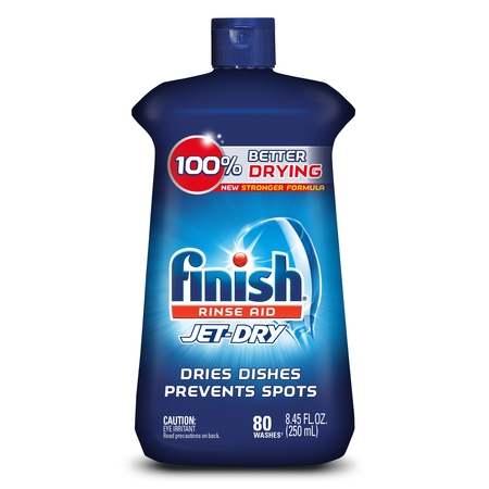 (2 pack) Finish Jet-Dry Rinse Aid, 8.45oz, Dishwasher Rinse Agent & Drying Agent