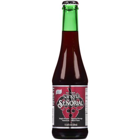 Sangria Senorial Carbonated Beverage, 11.16 fl oz](Mini Wine Bottle)