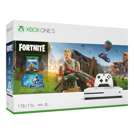Microsoft Xbox One S 1TB Fortnite Bundle, White,