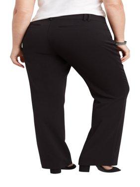 Plus Size Black Classic Trouser