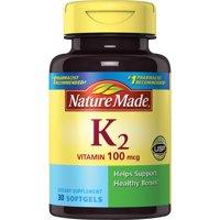 Nature Made Vitamin K2 100 mcg. Softgels
