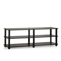 Furinno Turn-S-Tube No Tools 3-Tier Entertainment TV Stand, Multiple Colors