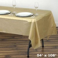 """BalsaCircle 54"""" x 108"""" Rectangular Disposable Plastic Tablecloth Table Cover - Party Picnic Table Covers Decorations"""
