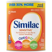 (Buy 2, Save $4) Similac Sensitive Infant Formula with Iron, Powder, 1.86 lb