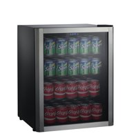 Galanz 110 Can Beverage Center GLB36S, Stainless Door Frame