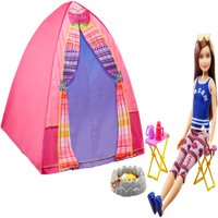 Barbie Camping Fun Skipper Doll and Tent Playset