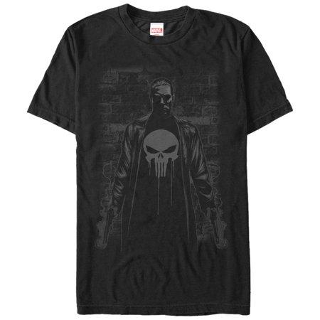 Marvel Men's The Punisher Smoking Guns T-Shirt - The Punisher Suit