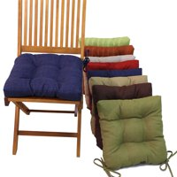Blazing Needles 16 in. Square Outdoor Chair Cushions with Ties - Set of 4