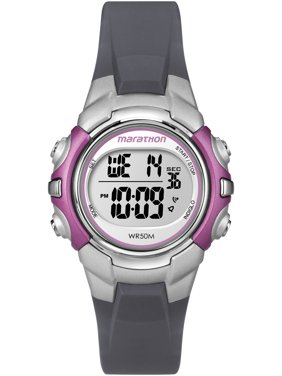 Marathon by Timex Women's Digital Mid-Size Grey and Pink Watch
