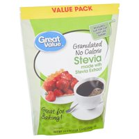 Great Value Granulated No Calorie Stevia Value Pack, 19.4 oz