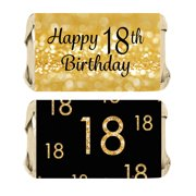 18th Birthday Candy Wrapper Stickers 54ct