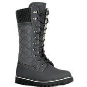 de40e404ed763 Polar-01 Ladies Waterproof Walking Warm Hiking Snow Rain Winter Mid Calf  Boot Gray