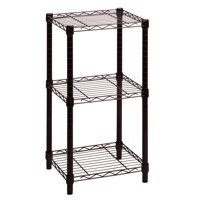 Honey Can Do 3-Shelf Steel Storage Shelving Unit, Black