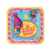 "7"" Trolls Square Paper Party Plate, 8ct"