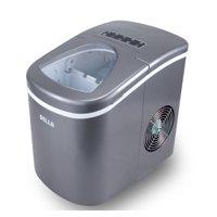 DELLA Portable Electric Ice Maker Machine High Capacity 26 Pounds per Day -2 Cube Sizes, Silver