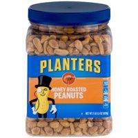 (3 Pack) Planters Honey Roasted Peanuts, 34.5 oz Jar