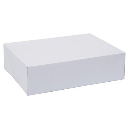 Wilton White Rectangle Corrugated Cake Box, 10 x 14 x 4 Inch, 2-Count (Favour Cake Boxes)