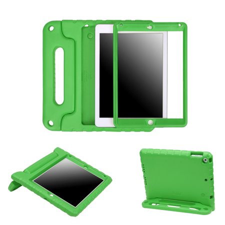 Green Neoprene Tablet Case (HDE iPad 9.7 Shock Proof Case for Kids - 2018 6th Generation iPad Bumper Cover with Built In Screen Protector and Apple Pencil Holder for All New Apple 9.7 Inch Education Tablet - Green)