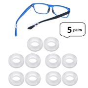 fb6253154b8 AM Landen 5 pairs Clear Silicone Eyeglasses Temple Tips Sleeve Round  Comfort Glasses Retainers For Spectacle