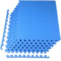 """BalanceFrom 1"""" EXTRA Thick Puzzle Exercise Mat with EVA Foam Interlocking Tiles for MMA, Exercise, Gymnastics and Home Gym Protective Flooring, 24 Square Feet"""