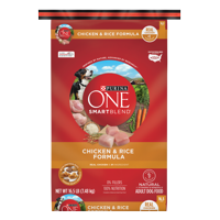Purina One Natural SmartBlend Chicken & Rice Formula Dry Dog Food (Various Sizes)