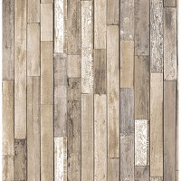 Brewster Barn Board Brown Thin Plank Wallpaper