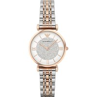 Emporio Armani Women's Retro Two-Tone Rose Gold and Silver Stainless-Steel Quartz Fashion Watch AR1926