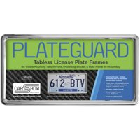 PLATEGUARD Tabless License Plate Frame and Holder/Bracket, Chrome