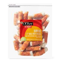 """Ol' Roy Rawhide 2.5"""" Rolls with Chicken, Natural Beefhide & Real Chicken, 36 Count"""