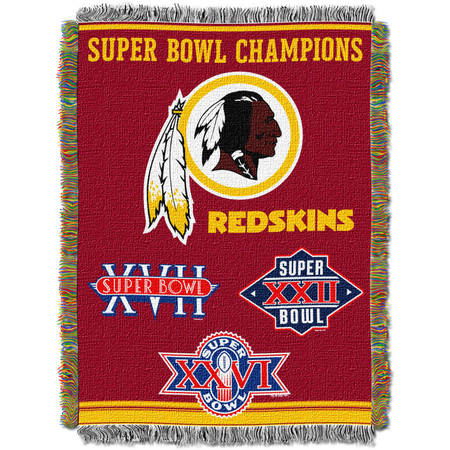 """NFL 48"""" x 60"""" Commemorative Series Tapestry Throw, Redskins"""
