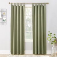 Sun Zero Brant Tab Top Blackout Window Curtain Panel