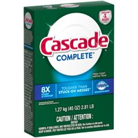 Cascade Complete Powder Dishwasher Detergent, Fresh Scent, 45 ounces