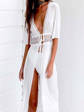 Women Beach Bikini Cover up Long Kaftan dress Summer Boho Maxi Dress Swimwear Fashion