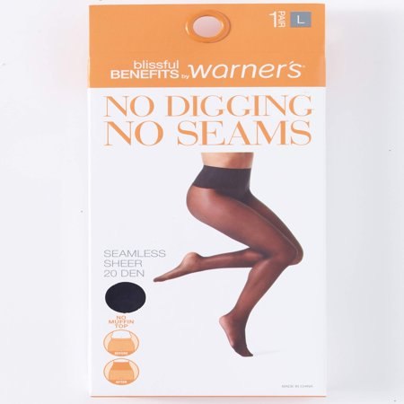 - No Digging, No Seams Sheer Pantyhose, 1 Pair