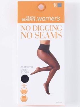 No Digging, No Seams Sheer Pantyhose, 1 Pair