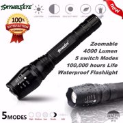 Zoomable Tactical 4000 Lumen 5 Modes CREE XML T6 LED Torch Lamp Light 18650